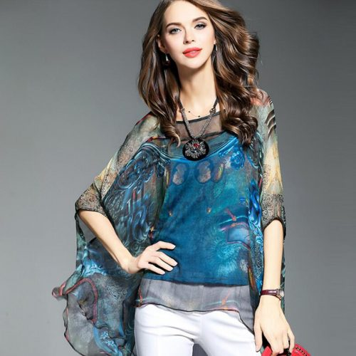 silk blue blouse 2
